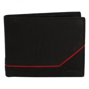 Pánská kožená peněženka černá – Delami Seum 2 černá