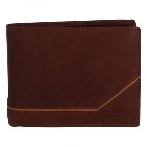 Pánská kožená peněženka hnědá – Delami Seum hnědá