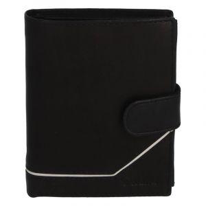 Pánská kožená peněženka černá – Delami Euro černá