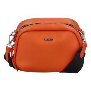 Malá dámská crossbody kabelka oranžová – David Jones Zabi oranžová