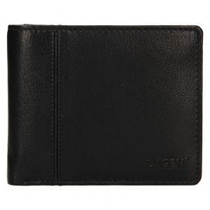 Pánská kožená peněženka Lagen Levi – černá