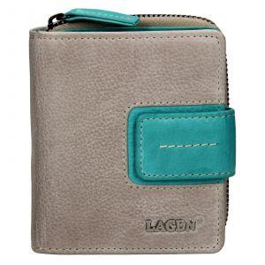 Dámska kožená peňaženka Lagen Zoe – modrá