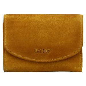 Dámská kožená peněženka Lagen Julie – žlutá