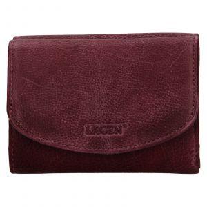Dámská kožená peněženka Lagen Julie – vínová