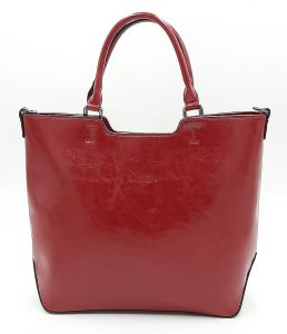 Červená klasická kabelka Ines Delaure