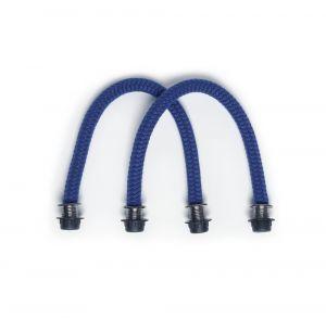 O bag modrá krátká lanová držadla Cobalto
