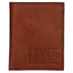 Pánská kožená peněženka Levis Alexander – hnědá