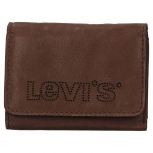 Pánská kožená peněženka Levis Noah – hnědá