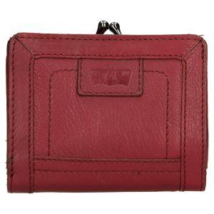 Dámská kožená peněženka Levis Grace – vínová