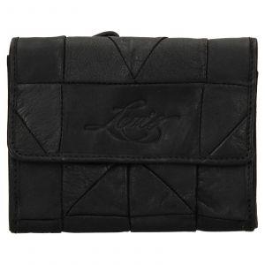 Dámská kožená peněženka Levis Ella- černá