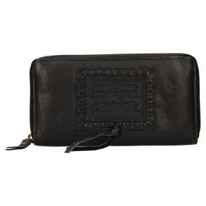 Dámská kožená peněženka Levis Sofia – černá