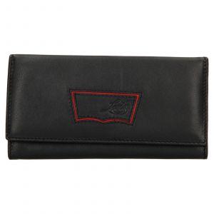 Dámská kožená peněženka Levis Madison – černá