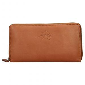 Dámská kožená peněženka Levis Emily – hnědá