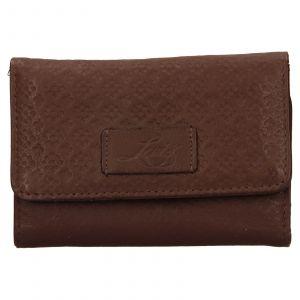 Dámská kožená peněženka Levis Olivia – hnědá