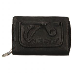 Dámská kožená peněženka Levis Emma – černá