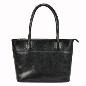 Dámská kožená kabelka Vera Pelle Alessia – černá