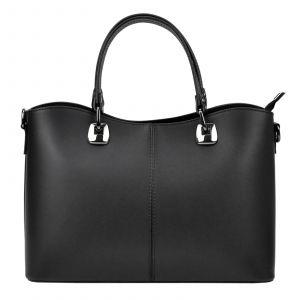 Dámská kožená kabelka Vera Pelle Sara – černá