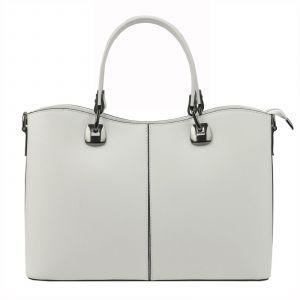 Dámská kožená kabelka Vera Pelle Sara – bílá