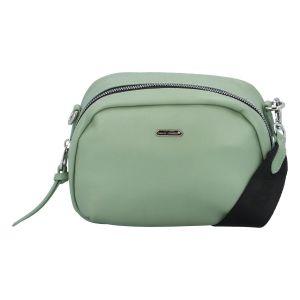 Malá dámská crossbody kabelka bledě zelená – David Jones Zabi zelená