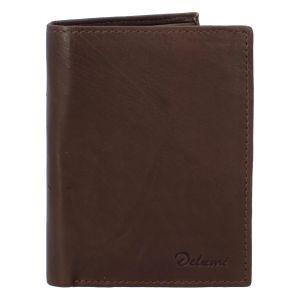Pánská kožená peněženka hnědá – Delami 8702 hnědá