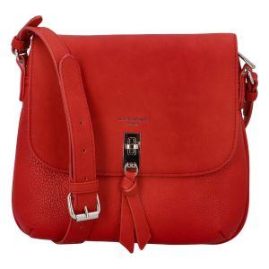 Dámská crossbody kabelka červená – David Jones Khali červená