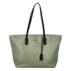 Velká dámská kabelka přes rameno bledě zelená – David Jones Sallary zelená