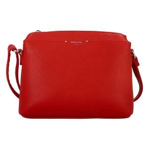 Dámská crossbody kabelka červená – David Jones Chinhy červená