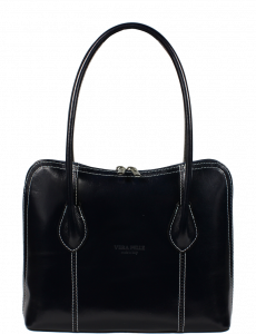 Kožená kabelka Palagio Blu Filati Bianca
