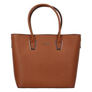 Dámská luxusní kabelka světle hnědá – FLORA&CO Pétri hnědá