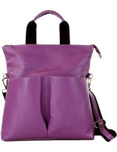 Mazzini moderní fialová kožená kabelka vel. ONE SIZE 139561-506894