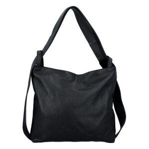 Dámská kožená kabelka přes rameno černá – ItalY Armáni černá