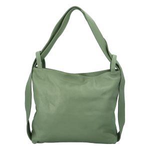 Dámská kožená kabelka přes rameno bledě zelená – ItalY Armáni zelená