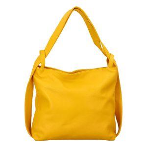 Dámská kožená kabelka přes rameno žlutá – ItalY Armáni žlutá