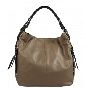Italská kožená kabelka Gemma Taupe Nera