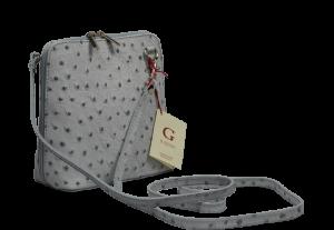 Malé šedé kabelky Grana Grigia Struzza