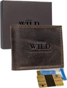Always wild pánská hnědá peněženka s rfid vel. ONE SIZE 116796-508793