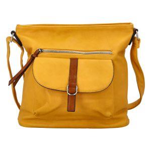 Dámská crossbody kabelka žlutá – Paolo Bags Hayerany žlutá
