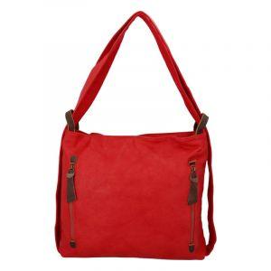Velká dámská kabelka přes rameno červená – Paolo Bags Aruti červená