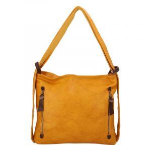 Velká dámská kabelka přes rameno tmavě žlutá – Paolo Bags Aruti žlutá