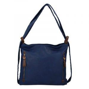 Velká dámská kabelka přes rameno tmavě modrá – Paolo Bags Aruti tmavě modrá