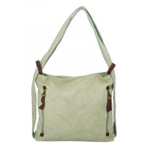 Velká dámská kabelka přes rameno světle zelená – Paolo Bags Aruti zelená
