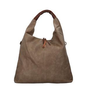 Velká dámská kabelka taupe – Paolo Bags Mansoi taupe