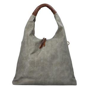 Velká dámská kabelka šedá – Paolo Bags Mansoi šedá