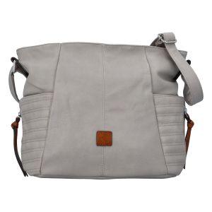 Dámská kabelka přes rameno šedá – Paolo Bags SaMi šedá