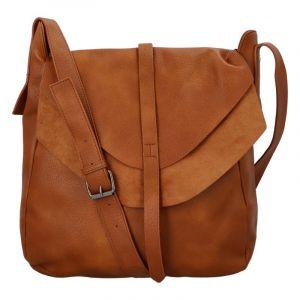 Dámská módní kabelka přes rameno světle hnědá – Paolo Bags Aethiops hnědá