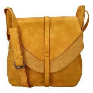 Dámská módní kabelka přes rameno tmavě žlutá – Paolo Bags Aethiops žlutá