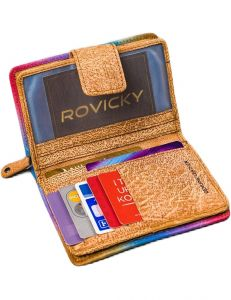 Rovicky dámská barevná kožená peněženka s potiskem vel. univerzální 109570-510774