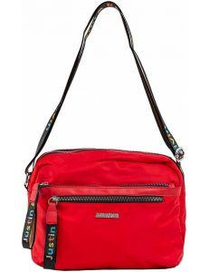 červená dámská textilní kabelka vel. ONE SIZE 140568-514227