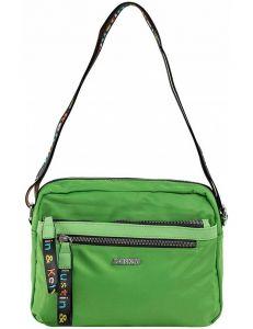 Zelená dámská textilní kabelka vel. ONE SIZE 140576-514235