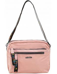 Světle růžová dámská textilní kabelka vel. ONE SIZE 140588-514247